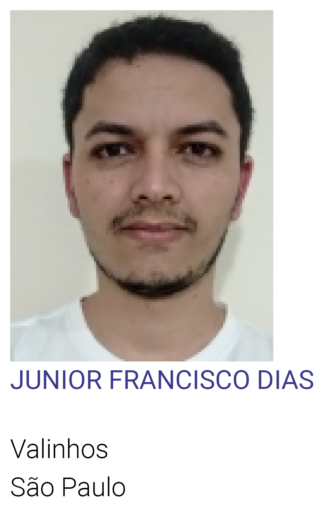 JUNIOR FRANCISCO DIAS